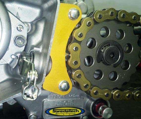 Case Saver installed on the Honda CR125 Stock Moto