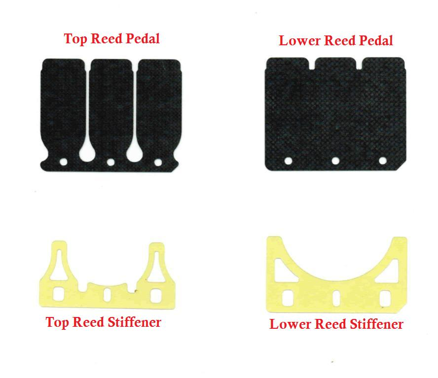 SwedeTech Honda CR125 Reed Pedal Set - Carbon Fiber - Stock Moto