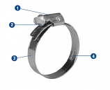 Hose Clamp - 3 in Silencer